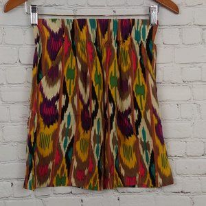 Cabi Women Multi-colored Elastic Waist Mini Skirt